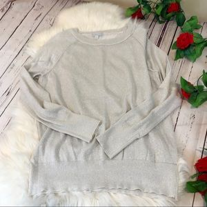 NY & Co large metallic lightweight sweater